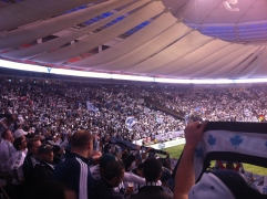 at the Vancouver Whitecaps playoff game, November 2015