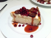Homemade Pommegrante Cheese Cake with candied pecans, December 2015