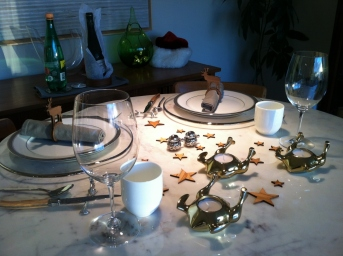 Christmas Dinner table, December 2015